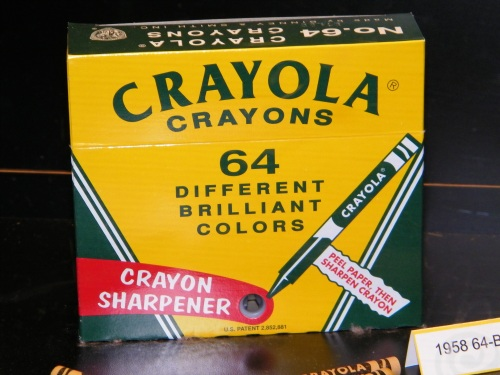 Be honest... did your crayon box look like this when you were little?  Mine did.