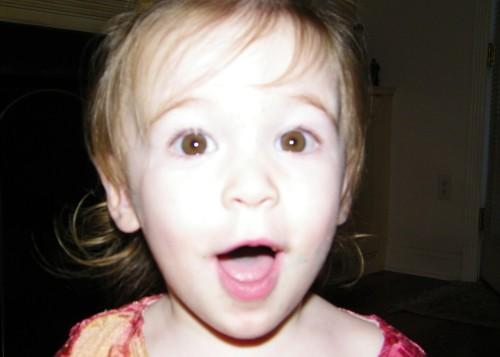 My niece really liked my new camera.