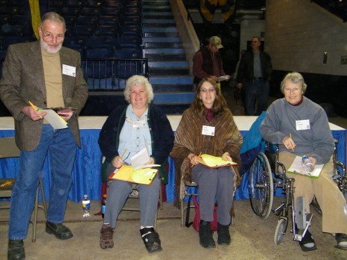 Judges Tom Calvert, Susan Withnell, Linda Brown, and Ellen Dorosh.