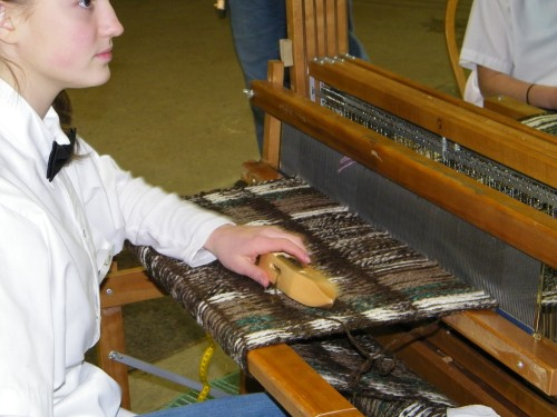 Maria Goodpaster, weaver for Between the Threads.